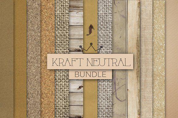 KRAFT NEUTRAL TEXTURES digital paper by RoyalDigitalStore on @creativemarket  #kraftpaper #kraftdigital #neutral  #textures #brown #kraft