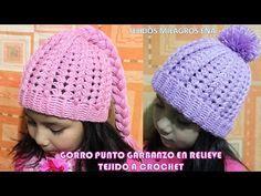 Gorro de ganchillo Tutorial / Crochet Hat Puff Stich (Subtitulado Español) English Subtitles. - YouTube