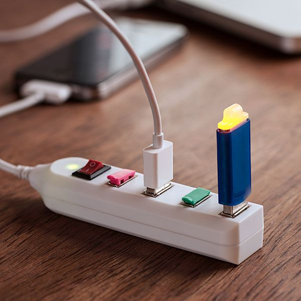 Because we all have too many things that charge on a USb plug these days!  The Power Strip for USB Gadgets *wants*