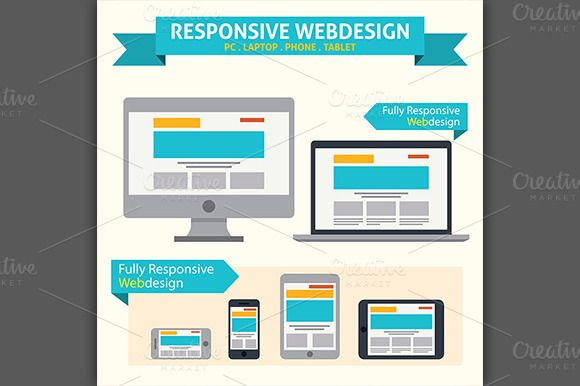 Check out Responsive Web Design Icon by VectorCat on Creative Market
