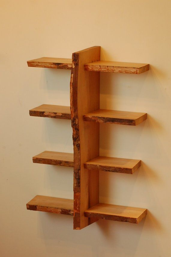 22 best natural live edge shelving images on pinterest for Live edge wood projects