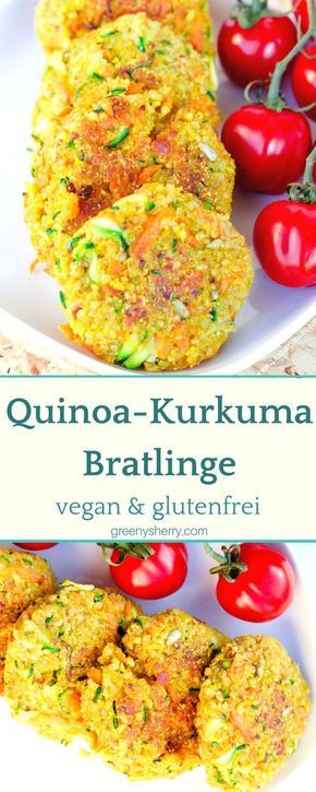 Knusprige Quinoa-Kurkuma Bratlinge vegan glutenfrei veggie http://www.greenysherry.com
