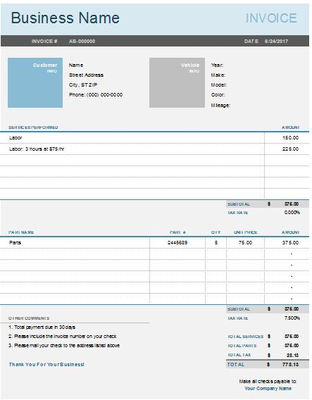 27 best Excel Business Invoices images on Pinterest Invoice - auto invoice template