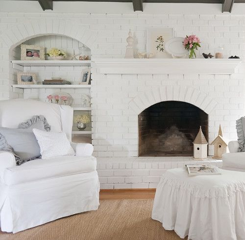 Trying to increase your home's resale value? Making over your fireplace is an easy way to increase your homes value. A quick coat of pain is any easy way to incorporate a shabby-chic style to your living room.