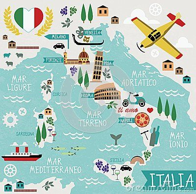 Cartoon Map of Italy: printable!