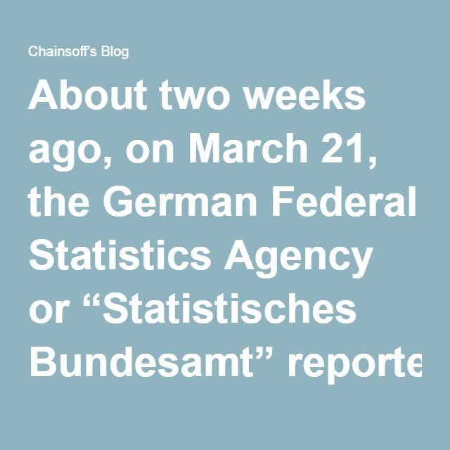 """About two weeks ago, on March 21, the German Federal Statistics Agency or """"Statistisches Bundesamt"""" reported that two million """"foreigners"""" (by far most of them were asylum seekers from Muslim countries) had been registered by the German authorities in 2015. About 860,000 of them left Germany and traveled to other European countries. The number of """"foreigners"""" who stayed in Germany was therefore 1.14 million – """"the highest number ever in the history of the Federal Republic of Germany.""""  Many…"""