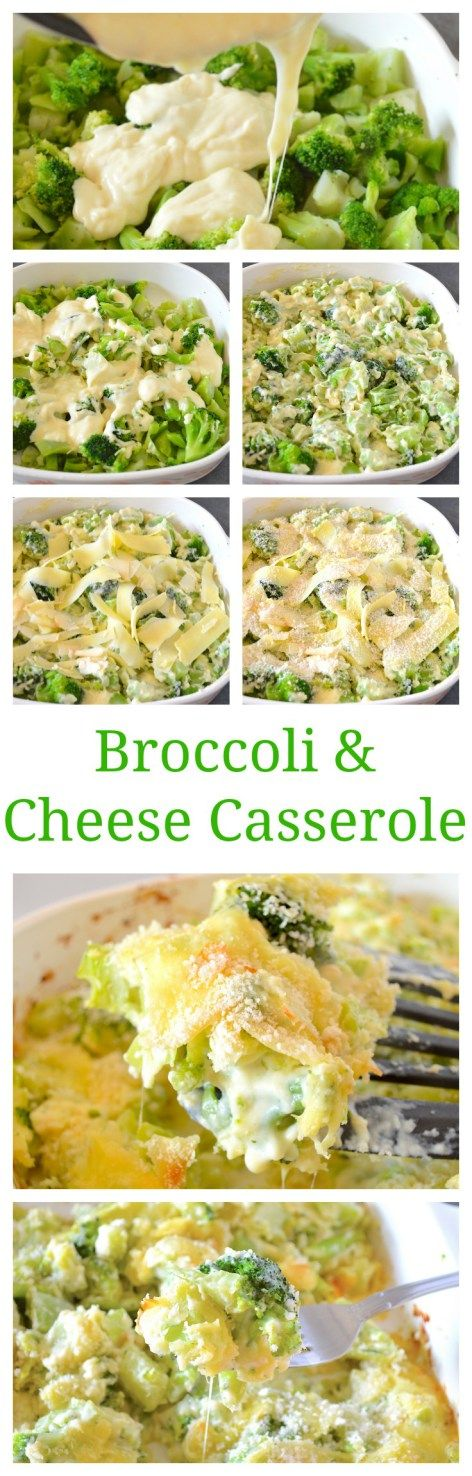 Broccoli and Cheese Casserole (AKA Broccoli Gratin)- broccoli is baked in a rich white cheddar and Gruyere cheese sauce and topped with even more cheese and crispy Panko bread crumbs!