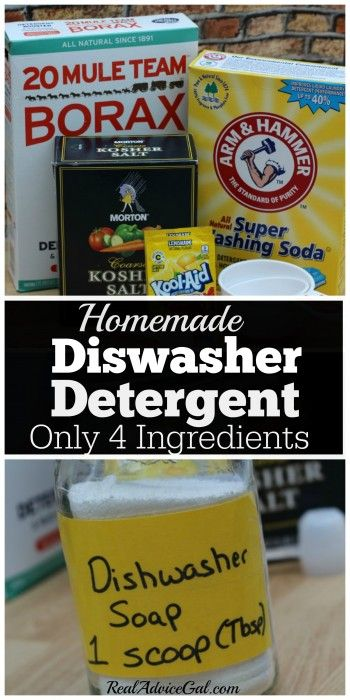 Homemade Dishwasher detergent ingredients and soap in a jar. This saves me hundreds a year. Why wash money down the drain?