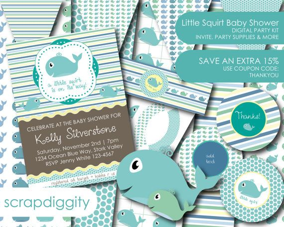 Cute Baby Shower Kit! A Little Squirt In On The Way!