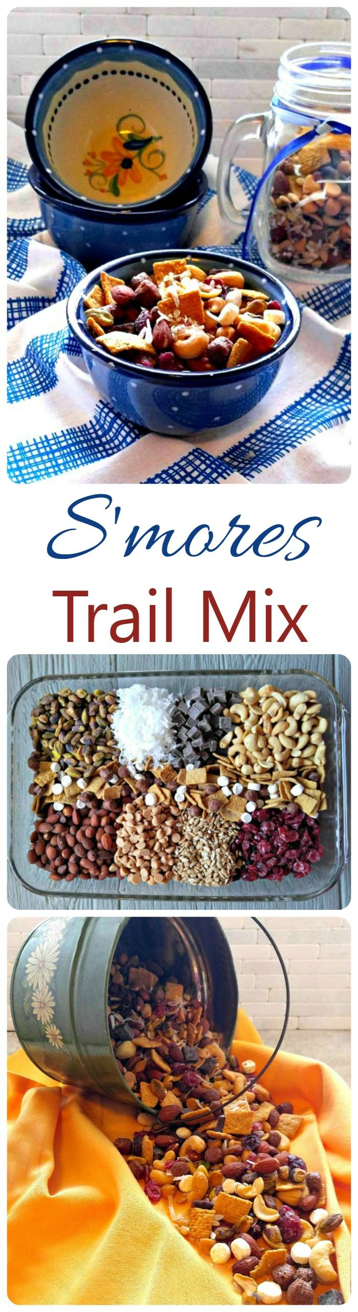 This delicious S'mores trail mix brings the favorite camping treat to a crunchy and delicious party snack. The kids will love this one! thegardeningcook.com #FlavorNation #ad