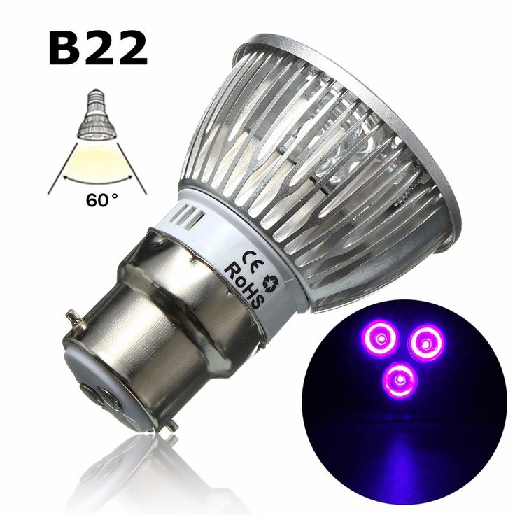 Best W LED Grow Light E B GU UV Ultraviolet Purple LED Spotlight Bulb Plant Lamp Greenhouse