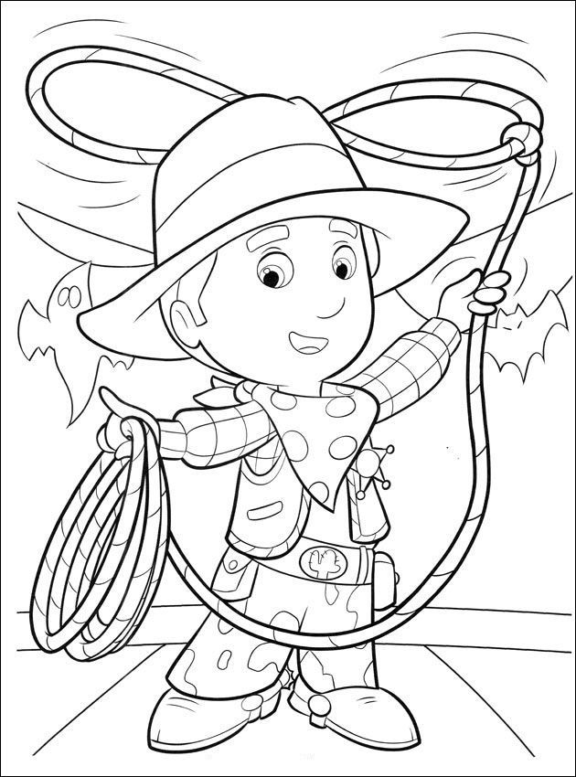 Handy Manny Coloring Pages: We present these 10 interesting coloring pages of Handy Manny to print and color that are free to download for your kid.