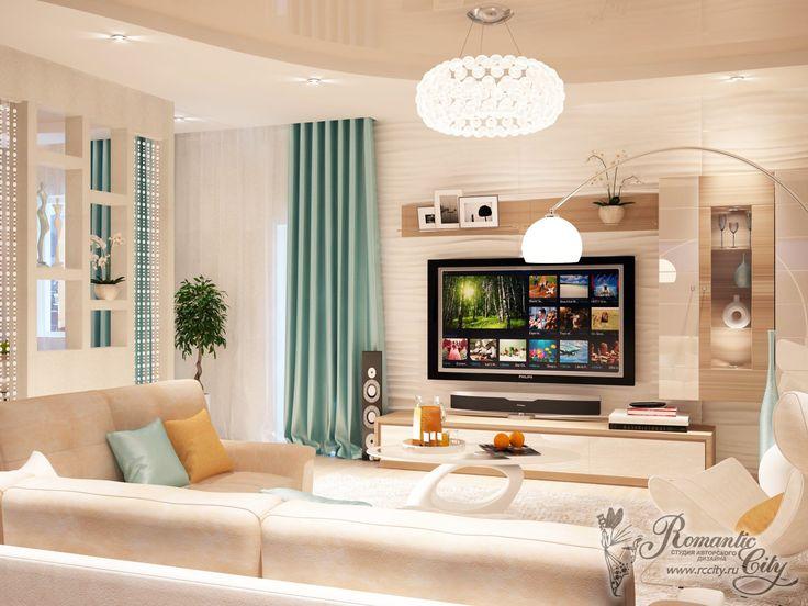 дизайн дома в теплых нежных тонах