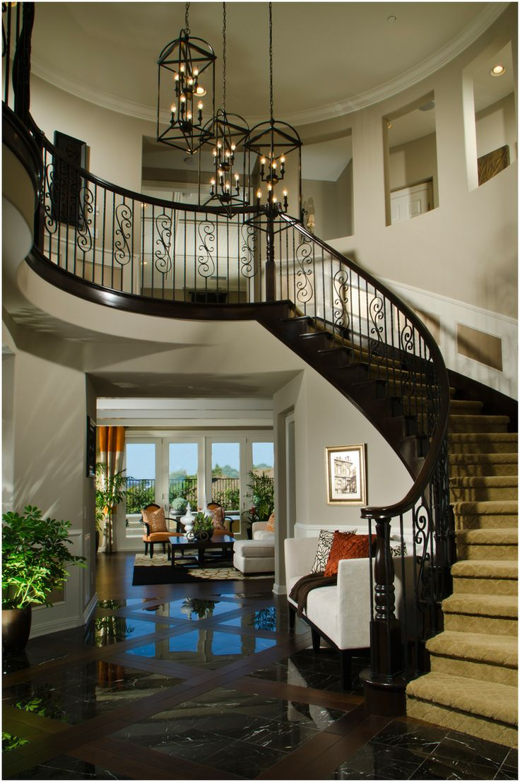 Open Foyer Stairs : Traditional wood staircases entry foyer stairs