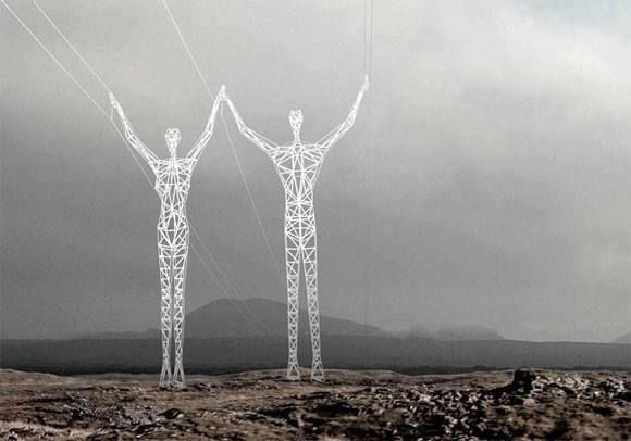 Electricity towers in Japan