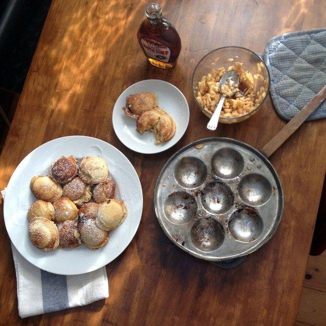Apple Spice Filled Ebelskiver (Danish Pancakes)
