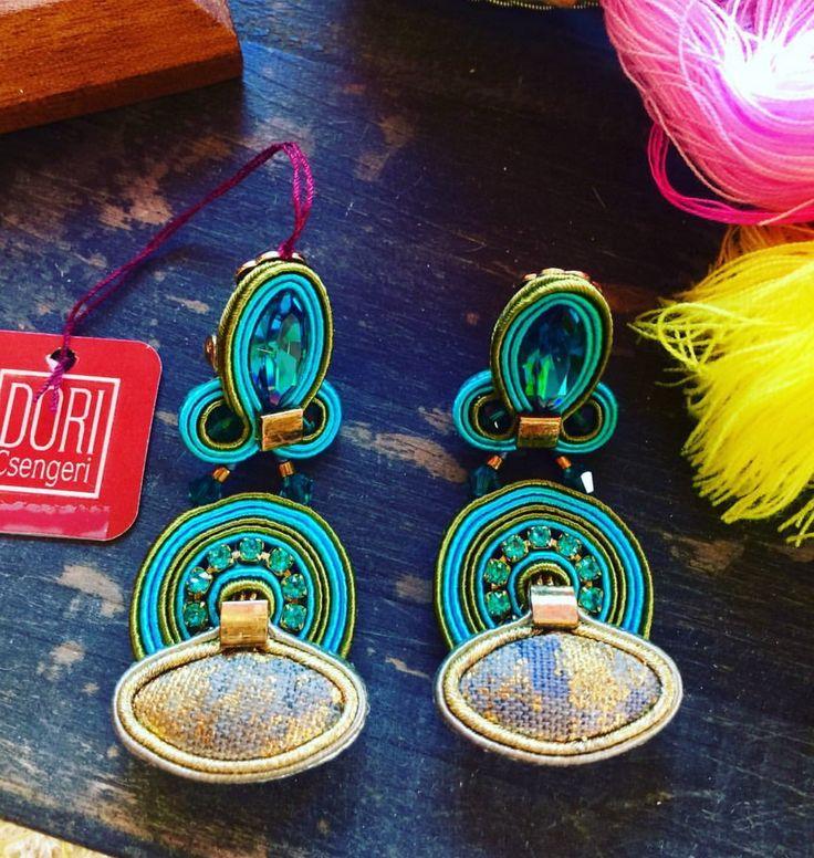 Color me happy with Dori's Elixir earrings... as seen on display at Calanit Bisuteria, Sotogrande, Spain  #doricsengeri #sotogrande, #turquoiseearrings #luxeearrings #designerjewerly #statementearrings