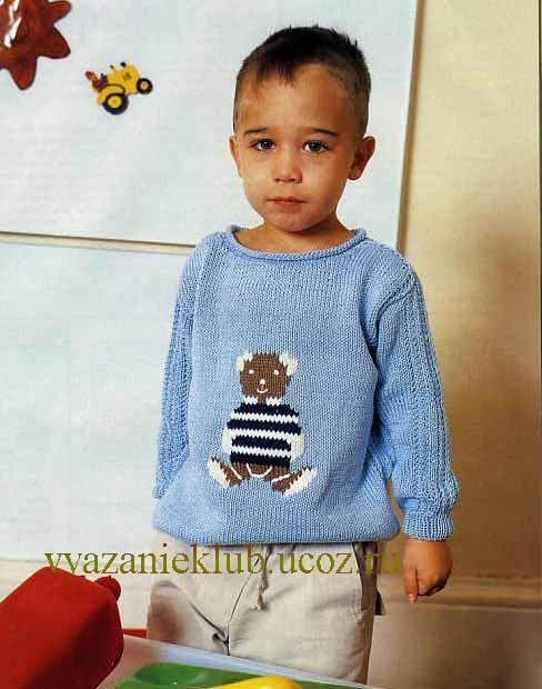 Пуловер для мальчика 3 лет - Для детей до 3 лет  - Каталог файлов - Вязание для детей