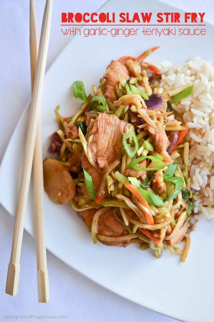 Broccoli slaw, Stir fry and Teriyaki sauce on Pinterest