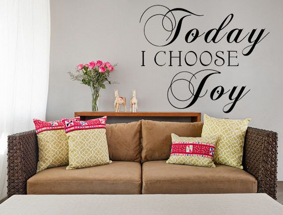 today i choose joy vinyl wall decal custom vinyl letteringcustom
