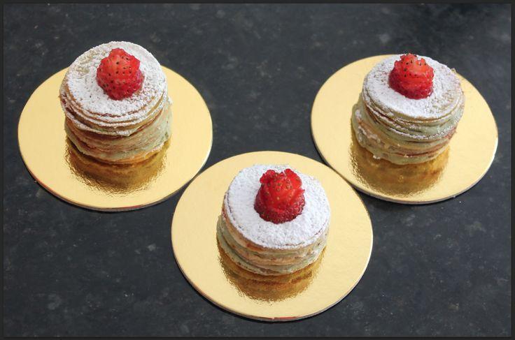 Mini Crêpe Cake de Vainilla