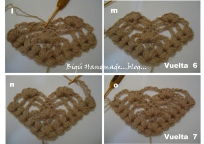 tutorial punto puff con video: Crochet Knitting, Flor De, Chal Flor, Crochet Abalorios, Craft Ideas, Bigú Handmade, Chrocet Ideas