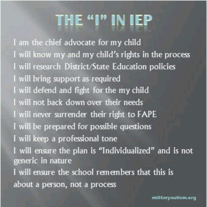 IEP - our school is so awesome - led me through our first IEP with so much…