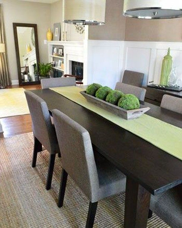 This Is A Gorgeous Modern Dining Room And We Love The Centerpiece Dining Room Table Centerpieces Dining Room Table Decor Farmhouse Dining Room