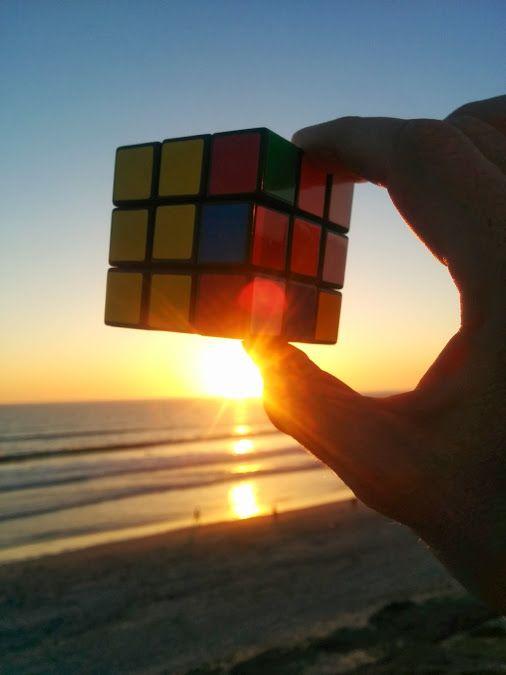 A Rubik Sunset.