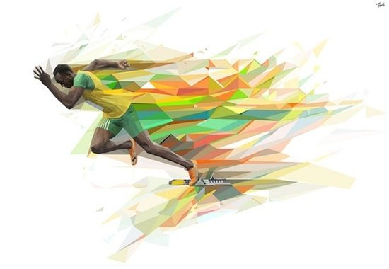 Usain Bolt art