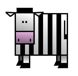 It's not a prisoner ... It's not a referee ... It's just a funny cartoon zebra! :)