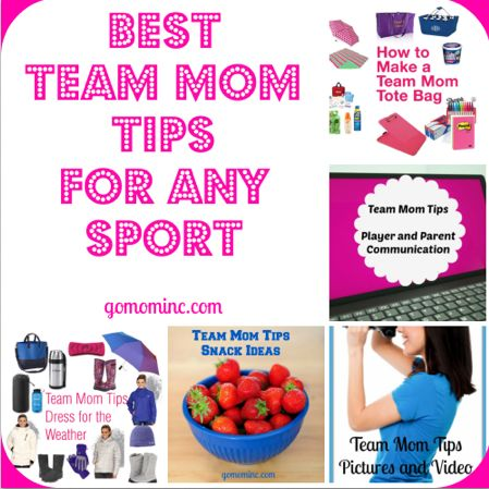A round up to get you on your organized way ~ Best Team Mom Tips for Any Sport | gomominc.com #teammom #youthsports