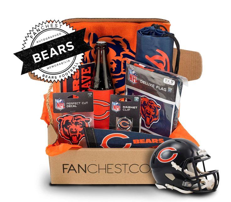 Chicago Bears Memorabilia Box | Includes a Signed Mini Helmet • FANCHEST