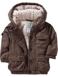 Sherpa-Lined Canvas-Cargo Jackets for Baby oldnavy $30