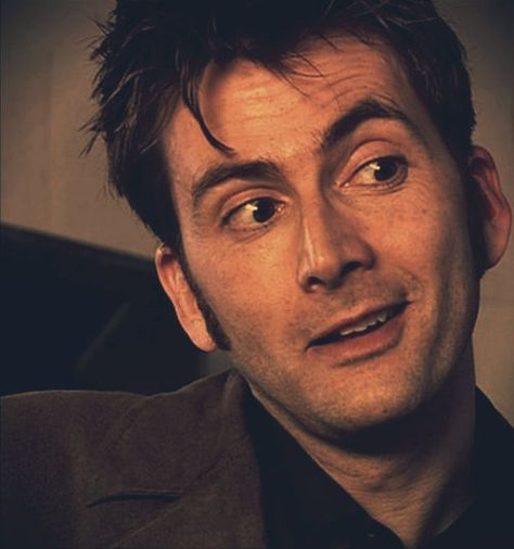 The Tenth Doctor and half a smile David Tennant