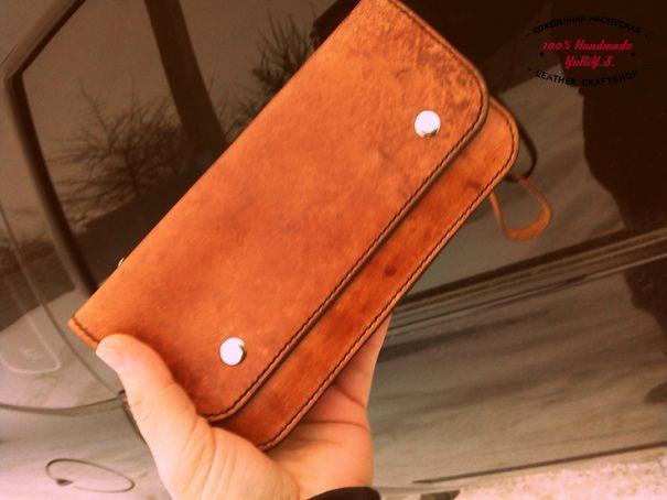 24cc9607ed54 Кожаный клатч. Кожаная барсетка. Большой кошелек из натуральной кожи. –  купить в интернет
