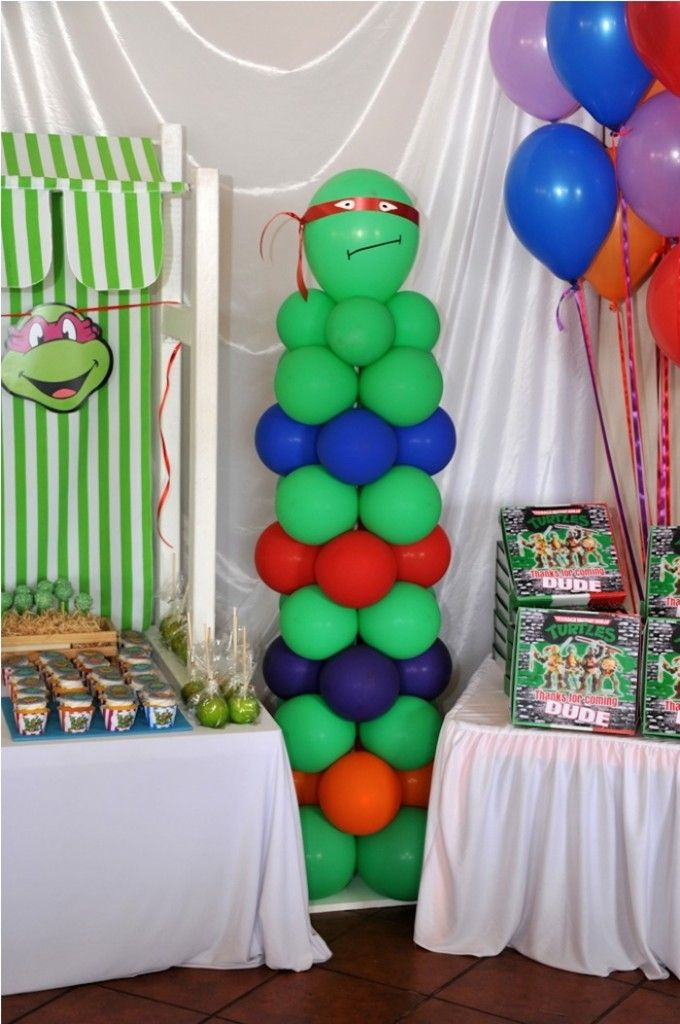 Ninja Turtle themed birthday party via Kara's Party Ideas ... - photo#22
