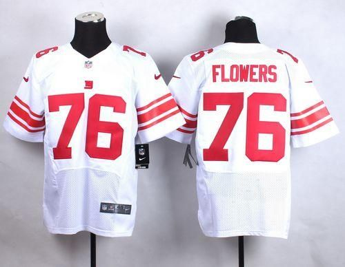 mens new york giants ereck flowers nike white elite jersey .
