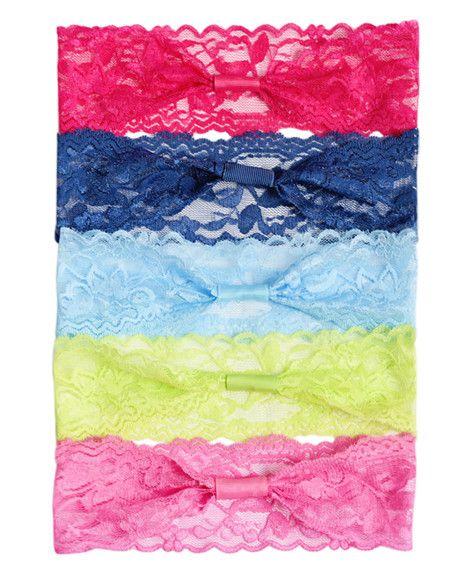 Lace Headband Variety Pack - Brights