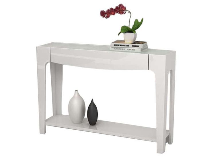 Console ARENA coloris blanc - Vente de Console - Conforama