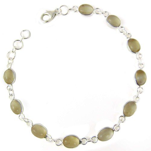 Silver, Citrine, Handmade Link Bracelet 8 inches, Light Shades of Green, 7 grams ShalinIndia,http://www.amazon.com/dp/B005O8S89I/ref=cm_sw_r_pi_dp_RZIysb0P1BN4KWV6