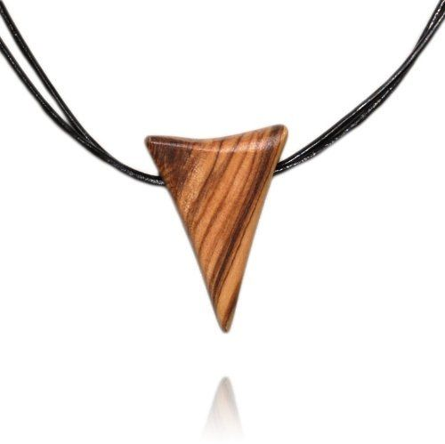 Handmade Olive Wood Shark Tooth Necklace From The Earth. $11.95. Purchase supports fair trade. 46 cm (18 inches) long with 7.5 cm (3 inch) extender. Olive wood is individually handcut and sanded. Handmade in Jordan