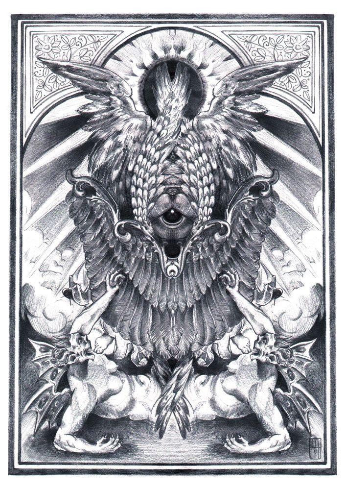 """""""Seraphim"""" Ilustración de Martillo-lápiz-"""