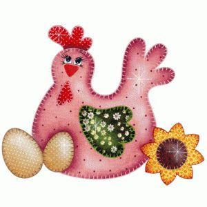 Patch collage galinha ximbica