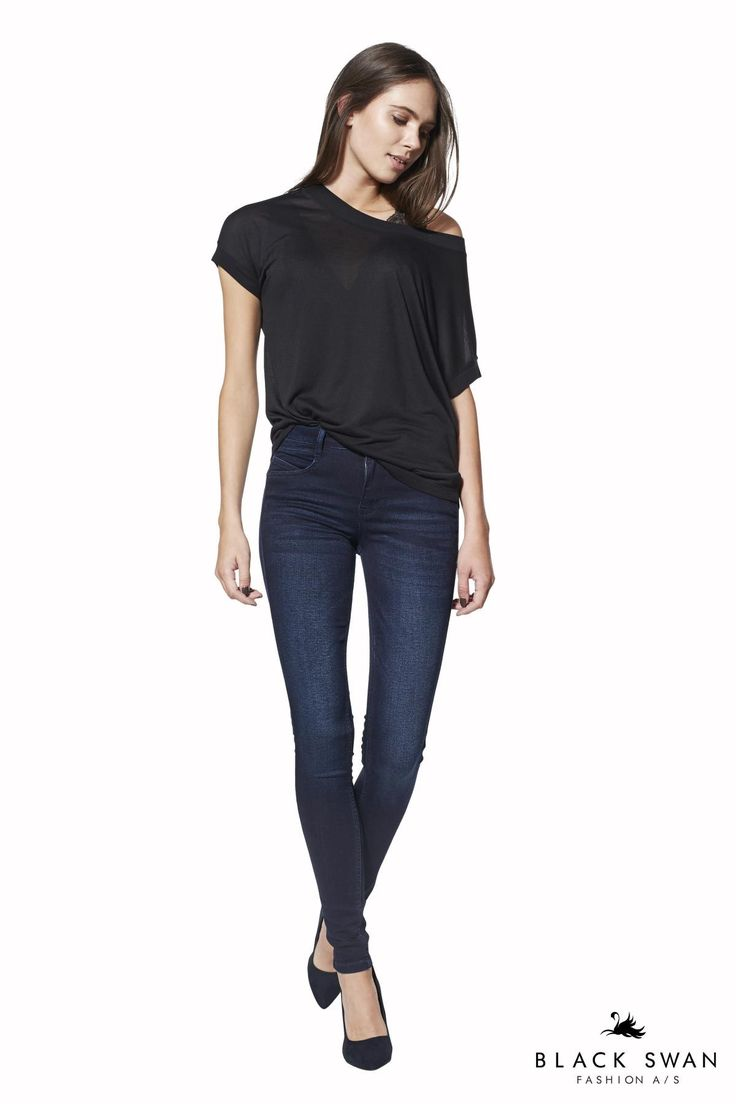 Lovely iadore jeans denim black swan fashion