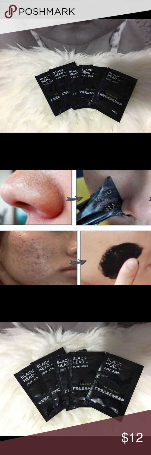 Black head pore remover 5 pieces pore strip blackhead remover.  New in package!!!  Bundle & save!!!✌🏻  Black mud for face. Makeup