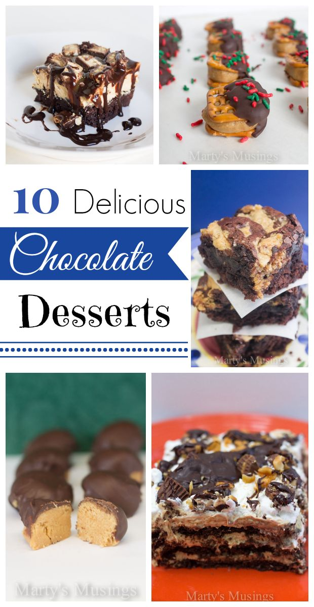 10 Delicious Chocolate Desserts - Marty's Musings