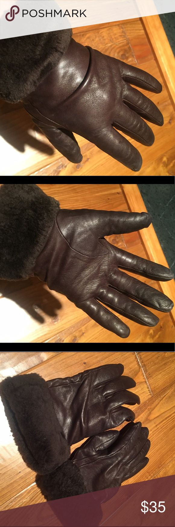 Tiger leather driving gloves - Ugg Brown Leather Gloves Amazing Brown Leather Gloves Size S M Ugg Accessories Gloves