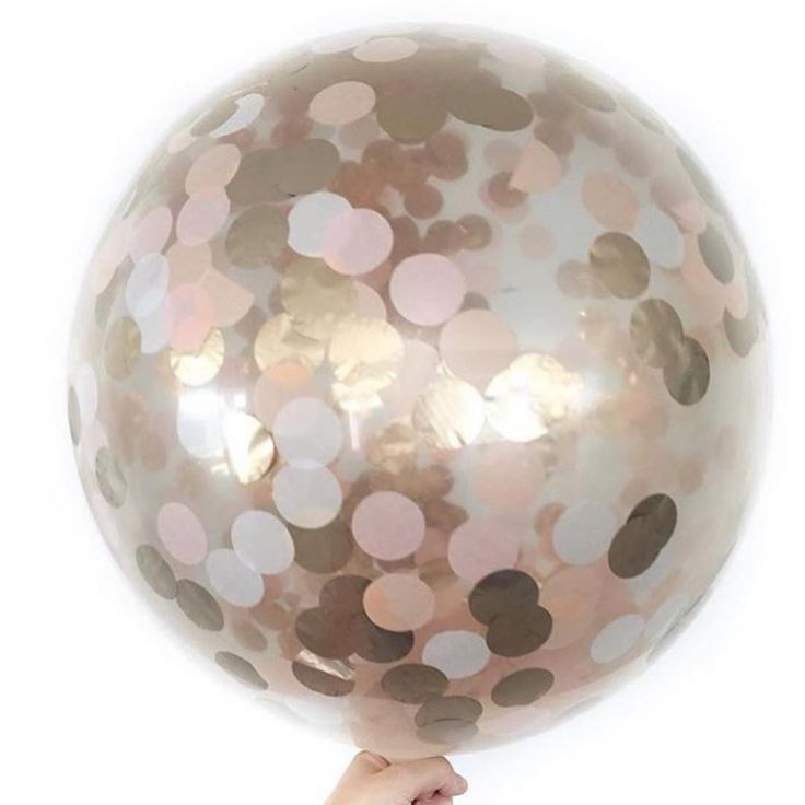 Pink Amp Gold Confetti Balloon Kidorable Celebrations