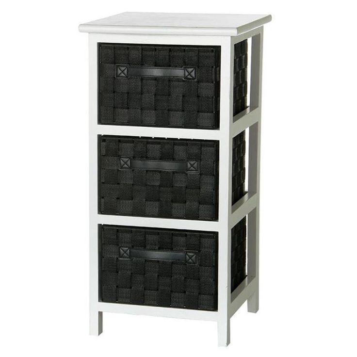 Cajonera 3 cajones negro madera 3050x3050x61cm 25462